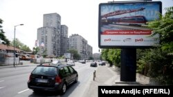 Serbia Russia billboards