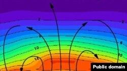 تصویری گرافیکی از حفره لایه اوزون.