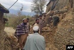 خانههای خرابشده در پاکستان