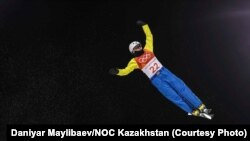 Жанбота Алдабергенова на зимней Олимпиаде в Пхёнчхане.