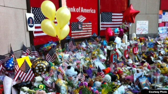Mourners paid tribute to the victims of the Boston Marathon bombings.