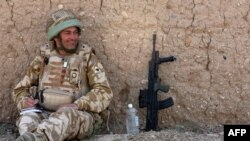 British Lieutenant Colonel Rupert Thorneloe at an undisclosed location in Afghanistan, in a photo supplied by the British Ministry of Defense