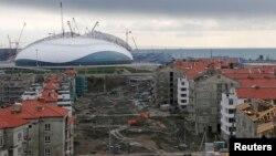 Строительство спортивных объектов для Олимпиады в Сочи.