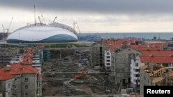 Pogled na Soči u izgradnji