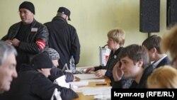 Голосование на избирательном участке №1 в Симферополе в день крымского «референдума». 16 марта 2014 года