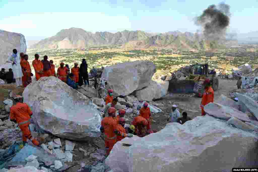Army rescuers were still sifting through rubble looking for bodies and survivors on September 8.