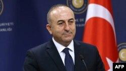 Турскиот министер за надворешни работи Мевљут Чавушоглу.