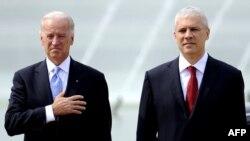 Predsednik Srbije Boris Tadić i potpredsednik SAD Džozef Bajden