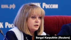 Ella Pamfilova, chairwoman of Russia's Central Election Commission (file photo)