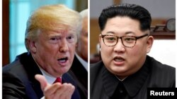 Президент США Дональд Трамп і лідер КНДР Кім Чен Ин