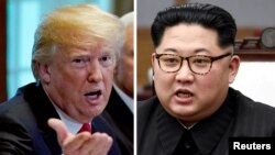 ABŞ-nyň prezidenti Donald Tramp we Demirgazyk Koreýanyň lideri Kim Jong Un
