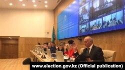 Заседание Центральной избирательной комиссии Казахстана относительно кандидатур Дании Еспаевой и Амангельды Таспихова, Нур-Султан, 27 апреля 2019 года.