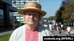 Алег Рудакоў на праспэкце Пераможцаў