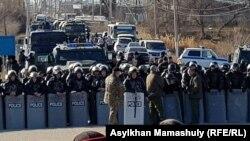 Спецзагін поліції в селищі Масанчі, 8 лютого 2020 року