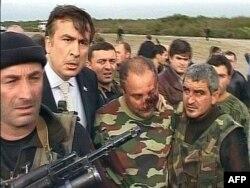 Міэіл Саакашвілі ў зоне канфлікту з Абхазіяй, 30 кастрычніка 2007