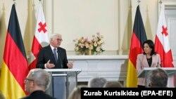 Президенту ФРГ пришлось отвечать перед грузинскими и немецкими журналистами за «украинский сценарий»