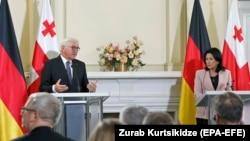Совместная пресс-конференция президентов Германии и Грузии в Тбилиси, 7 октября 2019 г.