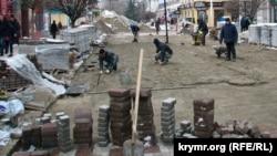 Реконструкция улицы Карла Маркса в Симферополе, архивное фото