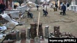 Реконструкция симферопольских улиц, декабрь 2016 года