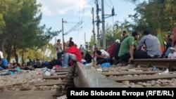 Migrants Stranded At Macedonian Border