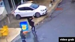 Момент теракта, зафиксированный камерами наблюдения