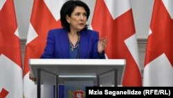 Президент Грузии на сегодняшней пресс-конференции
