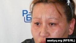 Анаргүл Жолболдиева баспасөз-мәслихатында. Астана, 24 қыркүйек 2010 жыл.