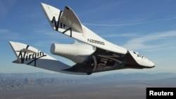 SpaceShip жеке меншік ғарыш кемесі алғашқы сынақ кезінде. Калифорния штаты, АҚШ. 10 қазан 2010 жыл.
