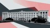 Здание подконтрольного Кремлю крымского правительства в Симферополе. Коллаж