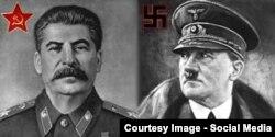 Йосип Сталін та Адольф Гітлер