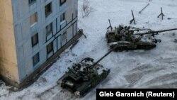 Ուկրաինայի զինված ուժերի տանկեր Ավդիիվկայում, 1-ը փետրվարի, 2017թ․