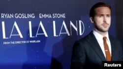 """Ryan Gosling """"La La Land"""" filminin təqdimatında."""