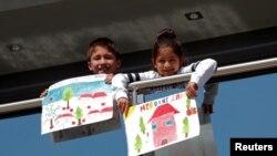 Деца от Солун са нарисували липсваща им пролет, след като ограниченията бяха удължени до 4 май