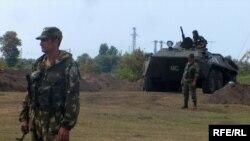 Российские военные около Поти