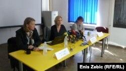 Sa konferencije za novinare nevladinih udruga za ljudska prava, 22. travnja 2014.