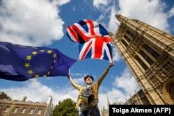 Демонстрация сторонников ЕС в Лондоне. Сентябрь 2017 года