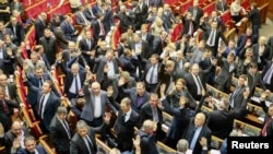 Голосування за «диктаторські закони». Київ, 16 січня 2014 року