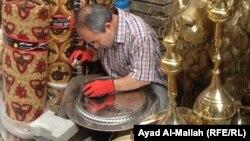 في سوق الصفارين ببغداد