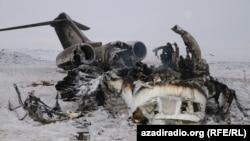 Ҳавопаймои Bombardier E-11A, ки дар вилояти Ғазнӣ сарнагун карда шудааст