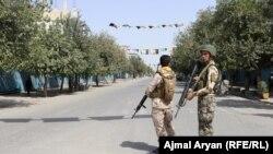 نیروهای افغان در شهر کندز. August 31 2019