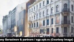 F.Dostoyevski Muzeyinin yeni korpusunun eskizi
