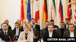 EU and Iranian Delegates JCPOA's Joint Commission pictured during its first meeting at the level of Political Directors on October 19, 2015 in Vienna. Araqchi is second from R.