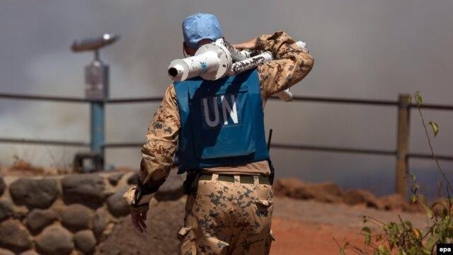 یک صلحبان سازمان ملل در بلندیهای جولان