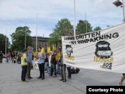 Антифашистский контрпротест. Берген, 14 мая 2011 года