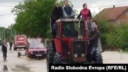 Шамац елдімекеніндегі тасқын. Босния және Герцеговина, 17 мамыр 2014 жыл.