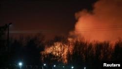 Пожар на территории колонии