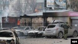 Маріуполь після обстрілу, 24 січня 2015 року