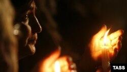 """Акция памяти по жертвам """"пятидневной войны"""" в Южной Осетии"""