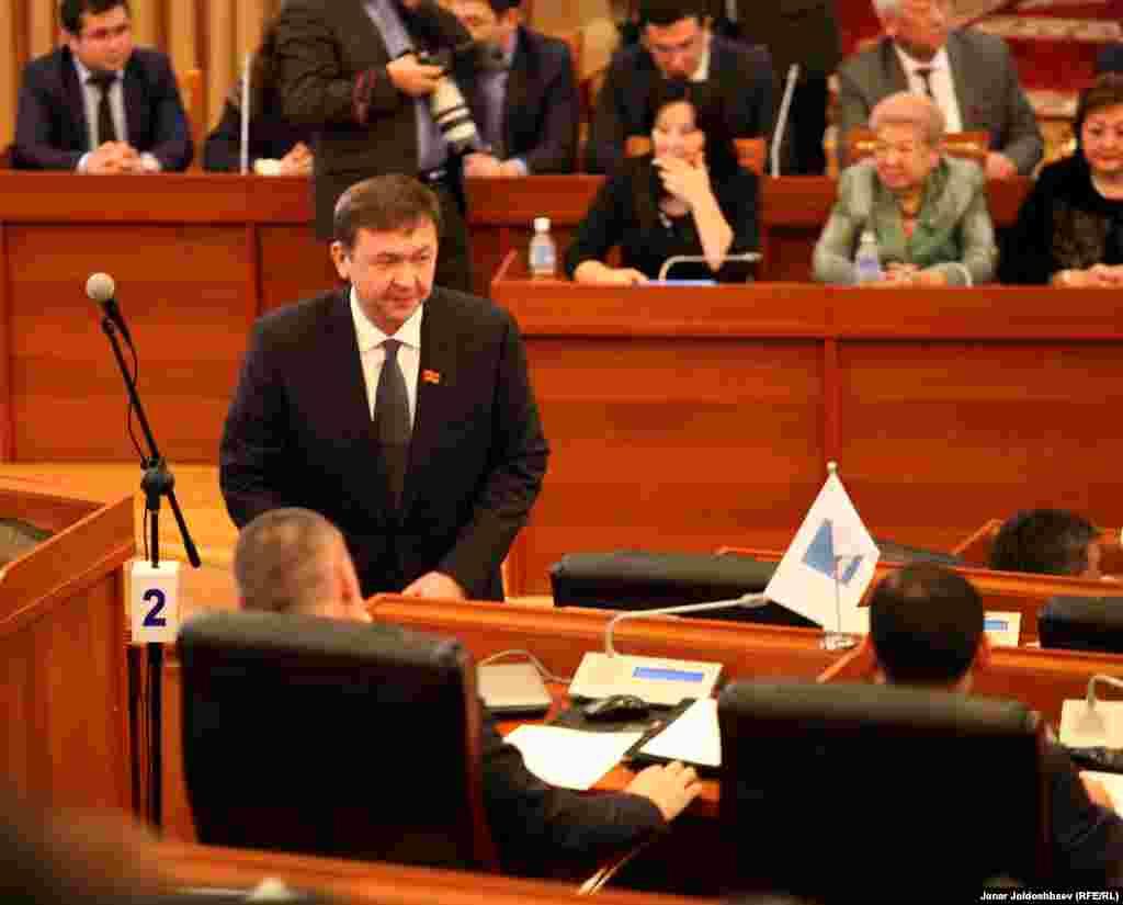 Депутат Азамат Арапбаев.