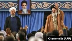 Presidenti i Iranit Hassan Rohani dhe lideri suprem i këtij shteti, Ayatollah Ali Khamenei. Foto nga arkivi